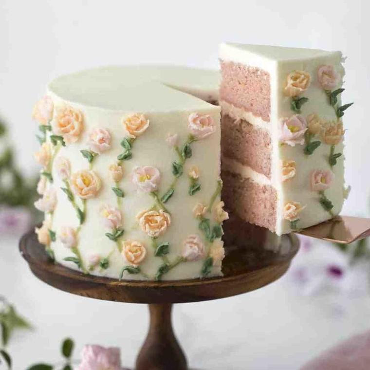 Εκπληκτικό κέικ με λεμόνι και φράουλα