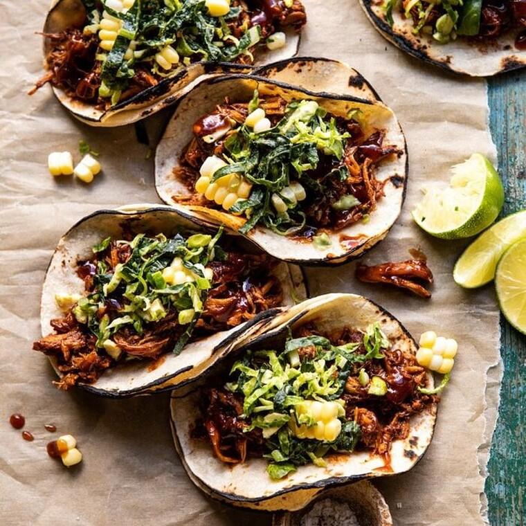 Tacos με κοτόπουλο και σως bbq