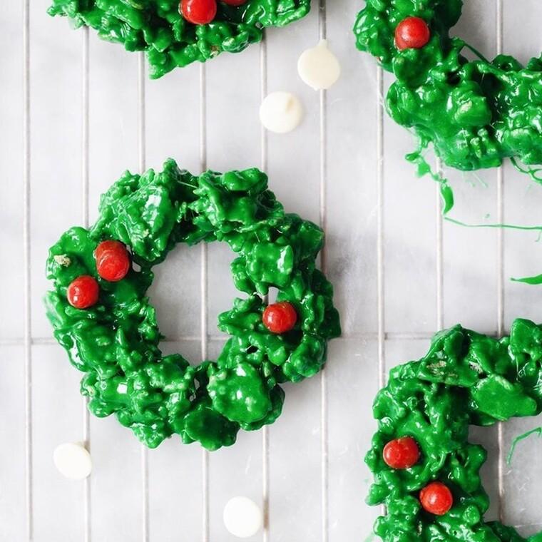 Χριστουγεννιάτικα στεφανάκια ...για φάγωμα