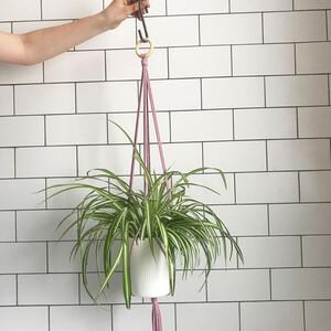 Πώς θα φτιάξεις με την τεχνική του μακραμέ μια κρεμαστή γλάστρα για το σαλόνι σου