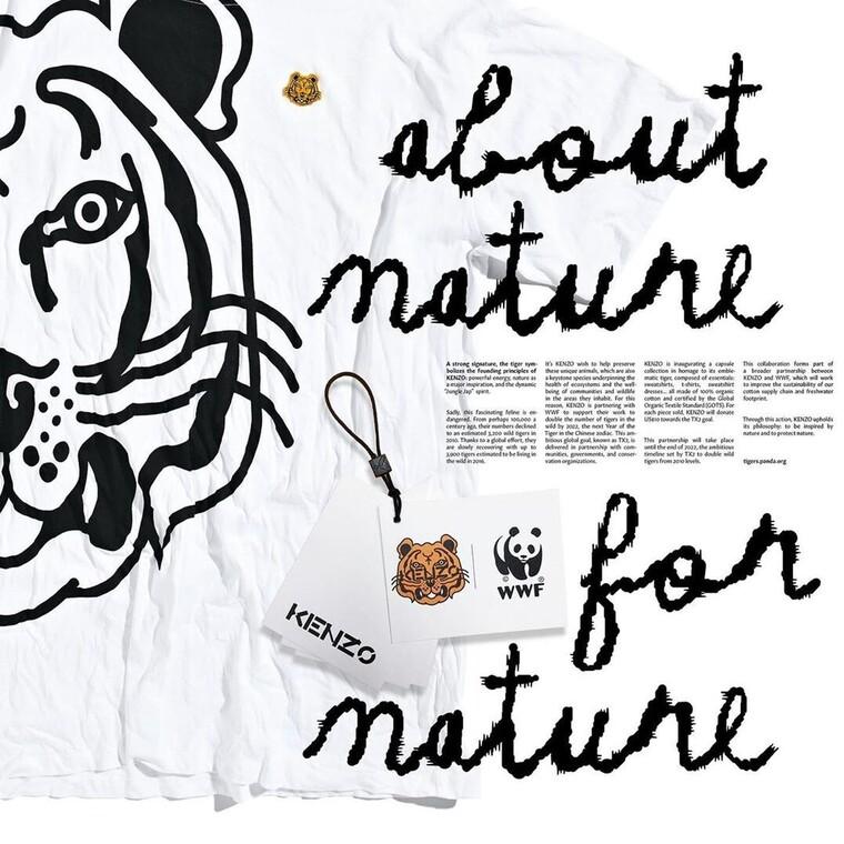 Η Kenzo υποστηρίζει τη WWF και τις τίγρεις σε μια special συλλογή