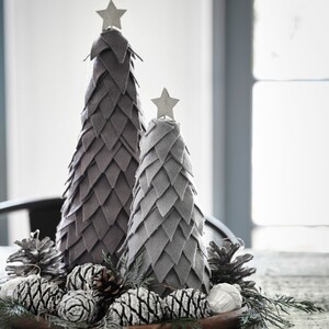 Φτιάξε ένα χριστουγεννιάτικο δεντράκι από τσόχα σε σκανδιναβικό στυλ